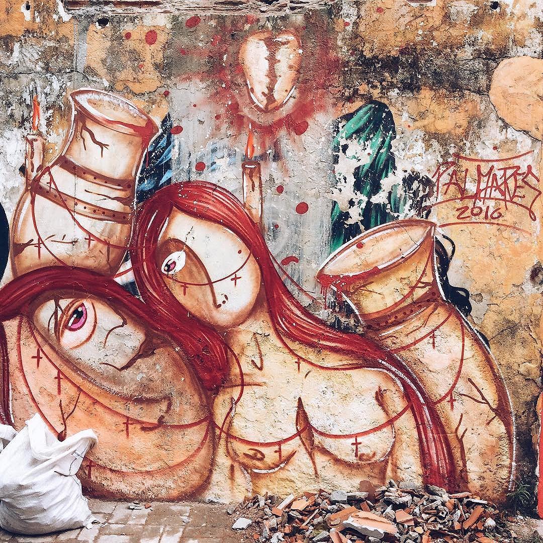 NÃO A CATEQUIZAÇÃO RELIGIOSA!! #graffiti #streetart #arteurbana #saopaulo #streetartsp #rodrigodospalmares #art #arte #artwork #painting