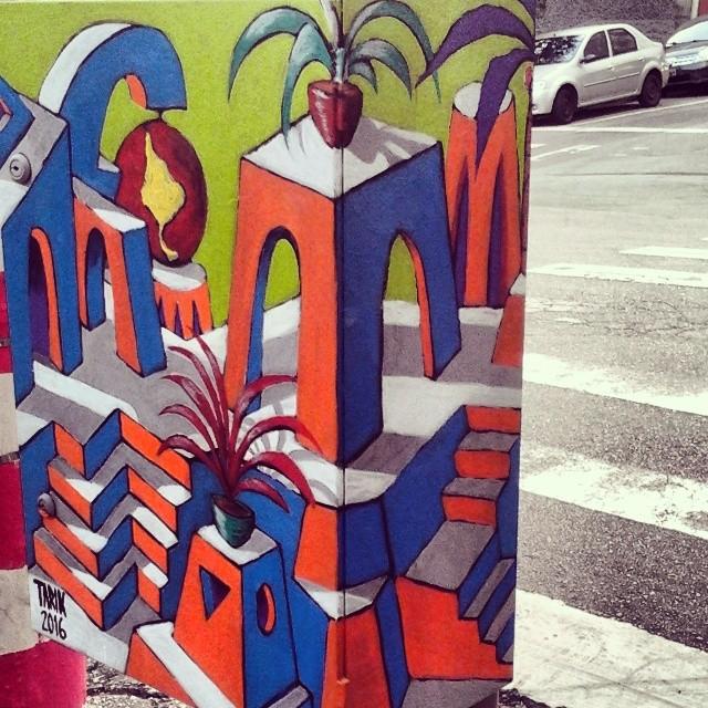 Ponto de vista 3/3. #TARIK #tarikklein #oniria #caixaludica #cidadeludica #tintaacrilica #pintura #paint #artenarua #artenacaixa #artbox #streetart #streetartsp #streetsofsaopaulo #sampagrafite #grafitti #grafite