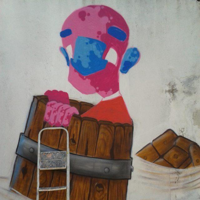 Processo | Process De uns dias no 2° Graffiti contra enchente #graffiti #graff #graffart #art #arte #arts #artist #colors #color #cor #cores #apa #apaone #brazilianart #brazilianstyle #brazilianartist #streetartsp #streetart #urbanstyle #urbanart #urbanartist #maiscorporfavor #character #cartoons