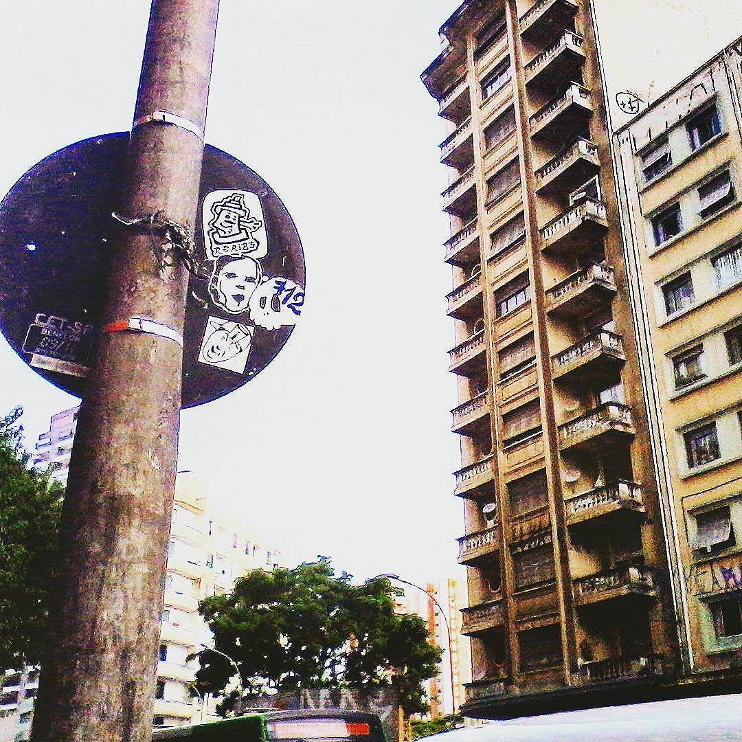 Sta. Cecilia - São Paulo - Brazil  #urbanart #art #streetartsp #stickerart #pegatinas #urbanlife #city #arteurbano #streetstickers #sampa #stickerporn #slapart #stickercombo #streetart #stickers #stickerslaps #streetphotography #pasteups #sp #urbancity  #collabs
