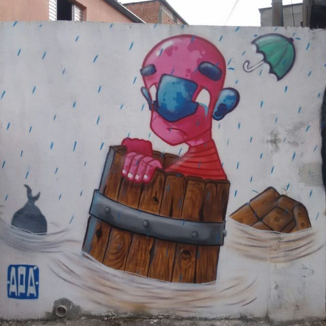 2° Graffiti Contra Enchente Foto do mano #Sapone #graffiti #graff #graffart #art #arte #arts #artist #colors #color #cor #cores #apa #apaone #brazilianart #brazilianstyle #brazilianartist #streetartsp #streetart #urbanstyle #urbanart #urbanartist #maiscorporfavor #character #cartoons