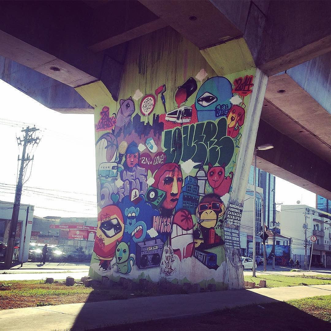 Ainda vou conseguir registrar aqui todos os grafites da Av. Cruzeiro do Sul! #sp #saopaulo #zn #zonanorte #segundafeira #grafite #grafitesp #maau #maausp #arteurbana #artesp #cidadecinza #streetsp #streetartsp