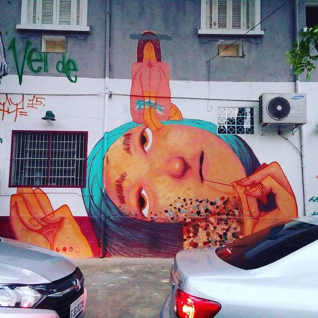 By @magmagrela . São Paulo. 27/05/2016 | vandalogy #streetart #streetartsp #graffiti #vilamadalena #magmagrela #streetartbrazil
