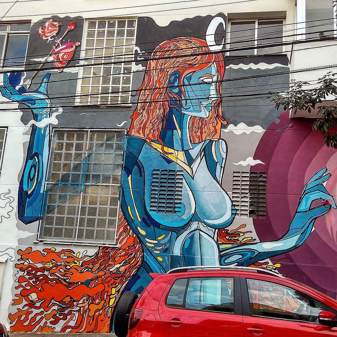 Deusa da lua. #Selene, mais antiga do que o próprio Apocalypse. Wow! #streetartsp #marvel