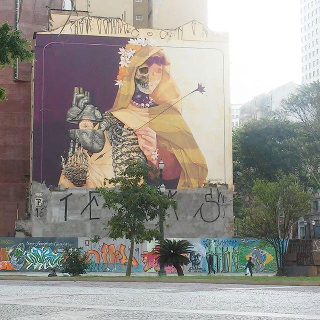 Grafiti na Cidade de São Paulo! #grafiti #grafitti #streetart #streetartsp #licensapoetica #cidadedesaopaulo #saopaulo