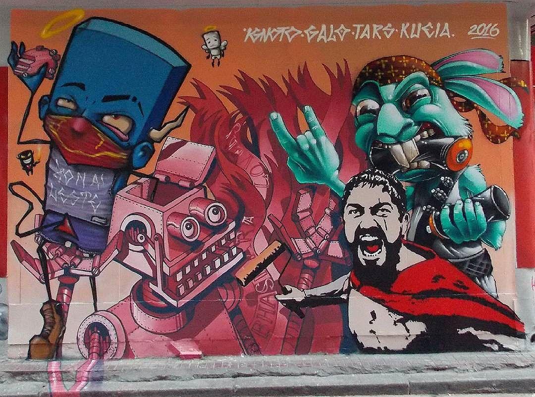Ignoto, Galo, Tars, Kueia #graffiti #arte #streetart #art #arteurbana #urbanart #grafite #streetartsp #stencil #tars #spray #sprayart
