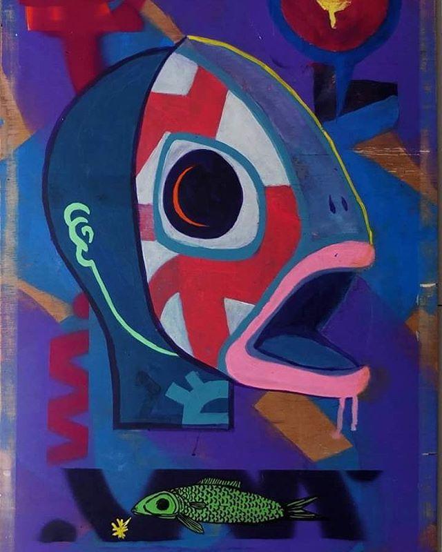 #sampagrafiti #streetart #streetartsp #artederuasp #arteurbana #arte #art #painting #paint #pintura #mask #fish #peixe #mascara #tomwray #coolsampa #contemporaryart #artecontemporanea