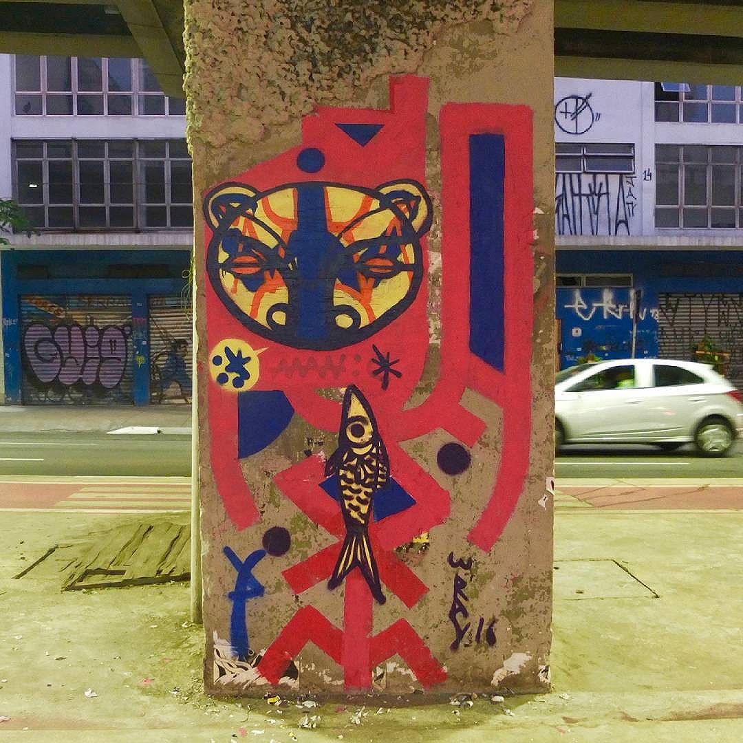 #sampastreetart #streetart #streetartsp #graffitiart #graffiti #spray #rolinho #graf #arteurbana #artederua #urbanart #tomwray #realcoolsampa #sampagraffiti #elgrafitti #arte #urso #fish #tribalfuturist #tribal #totemicfuturism #totem