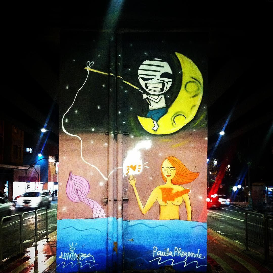 Tem uma galeria de arte no 'Minhocão'. É muito phoda! #StreetArtSP