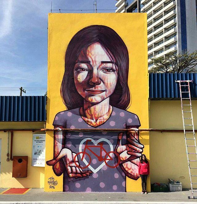 The best streetart of the day: @titoferrara in Sao Paulo. #titoferrara #saopaulograffiti #graffitisp #graffitisaopaulo #streetartsp #streetartbrazil #streetartbrasil #streetartbr #brazilstreetart #graffitibrasil #brasilgraffiti #brazilgraffiti #igersbrazil #ig_brazil #graffitibrazil #beststreetartoftheday #topstreetart #topgraffiti #bestoftheday #streetart #urbanart #graffiti #wallart #graffitiart #wallpainting #muralpainting #artederua #arteurbana #streetart_daily #streetarteverywhere