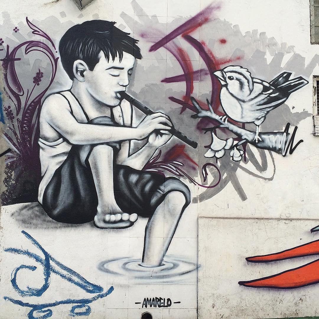 Cada grafite mais mágico que o outro aqui em SP #streetartSP #grafitti #nofilter