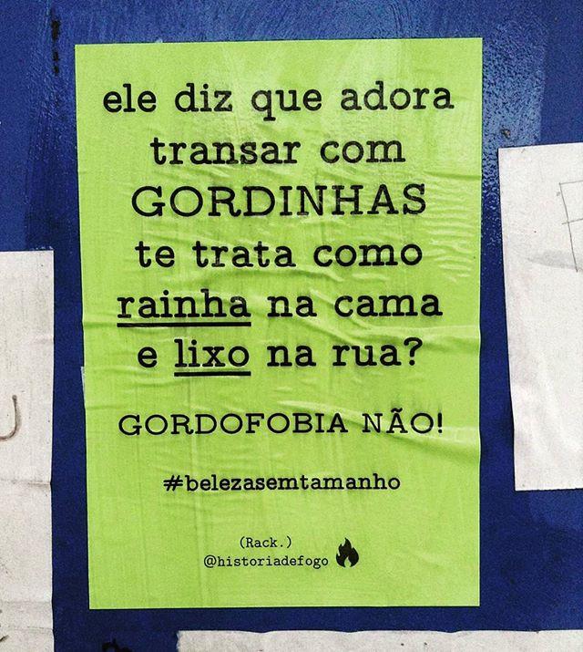 Não somos o seu FETICHE!  Viu um lambe meu por aí? Me marca. Vai compartilhar? Não esqueça de me citar.   #bomdia #historiadefogo #lambelambe  #artederua #urbanismo #gordofobia  #olheosmuros #urbanart #poesia  #empoderamento  #feminismo  #pelosmuros #poesiaderua  #lamblamb  #streetart #taescritoemsampa #txturbano #misturaurbana #oqueosmurosfalam  #splovers #sp4you #igerssp #streetartsp #vinarua #arteurbana #vozesdacidade