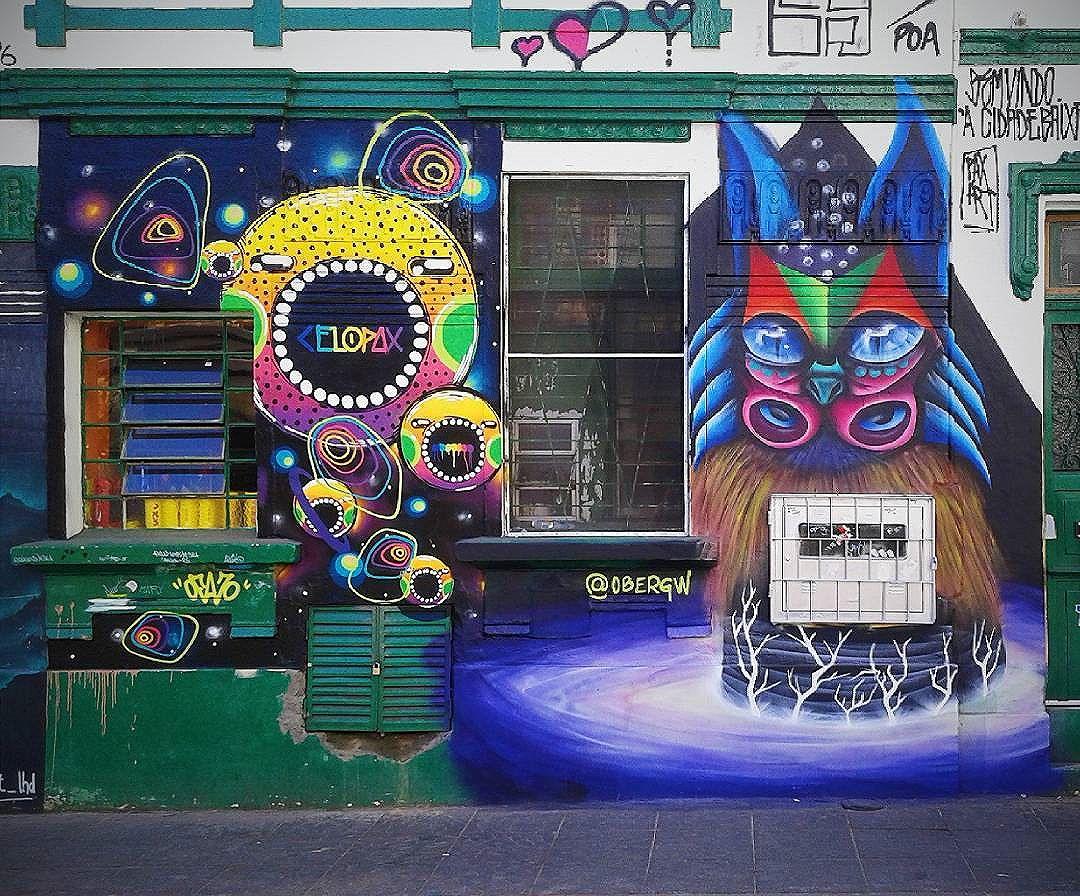 valeu novamente pelo muro e rolê @celopax  Rua General Lima e Silva Porto Alegre - Rio Grande do Sul  facebook.com/obergw