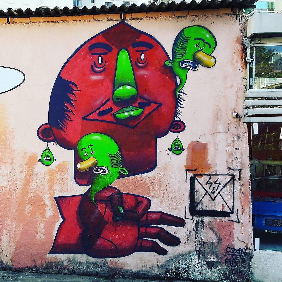 Colorful and inspired wall art in Moema (São Paulo) Artist: @finok #finok #sambadograffiti #sampagraffiti #graffiti #graffiti_clicks #grafite #graf #streetart #streetartsp #streetphoto #streetarteverywhere #streetartphotography #spray #bagarre #spraypaint #urbanwall #urbanart #wallart #saopaulo #brasil #rsa_graffiti #braznu #sampa #tv_streetart #saopaulocity #tv_sa_simplicity_graff #streetartofficial