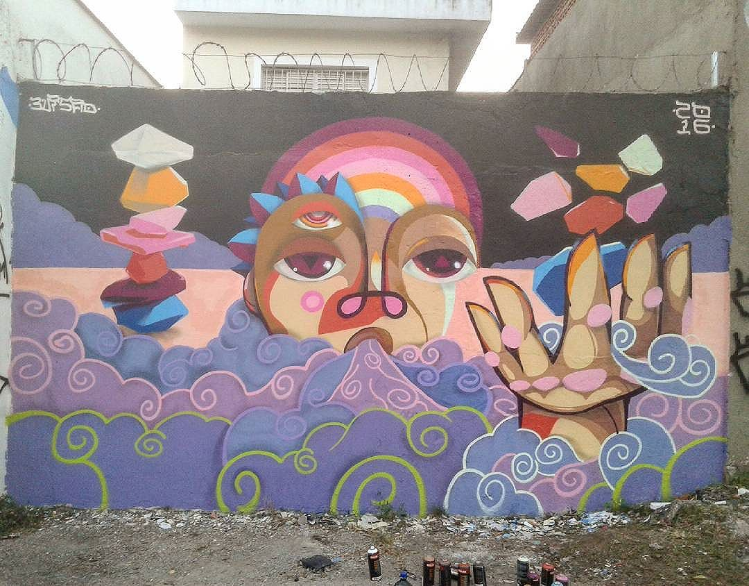 >Equilibrando cores< #mural #graffiti #graffitisp #spgraffiti #streetartsp #urbanart #streetart #cores #equilibrio #rockbalance #pedras #rock #pineal #3visao #artwork #muralist #elgraffiti #paredeviva #elemental #ar #sprayart #jahbless #ipiranga #sp #pintura #2016 #Brasil #