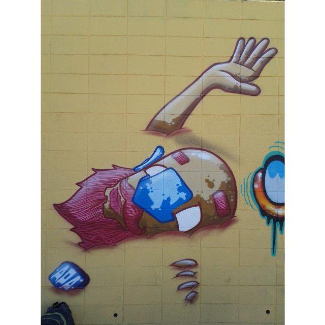 Náufrago | Cast Away  #graffiti #graff #graffart #art #arte #arts #artist #colors #color #cor #cores #apa #apaone #brazilianart #brazilianstyle #brazilianartist #streetartsp #streetart #urbanstyle #urbanart #urbanartist #maiscorporfavor #character #cartoons