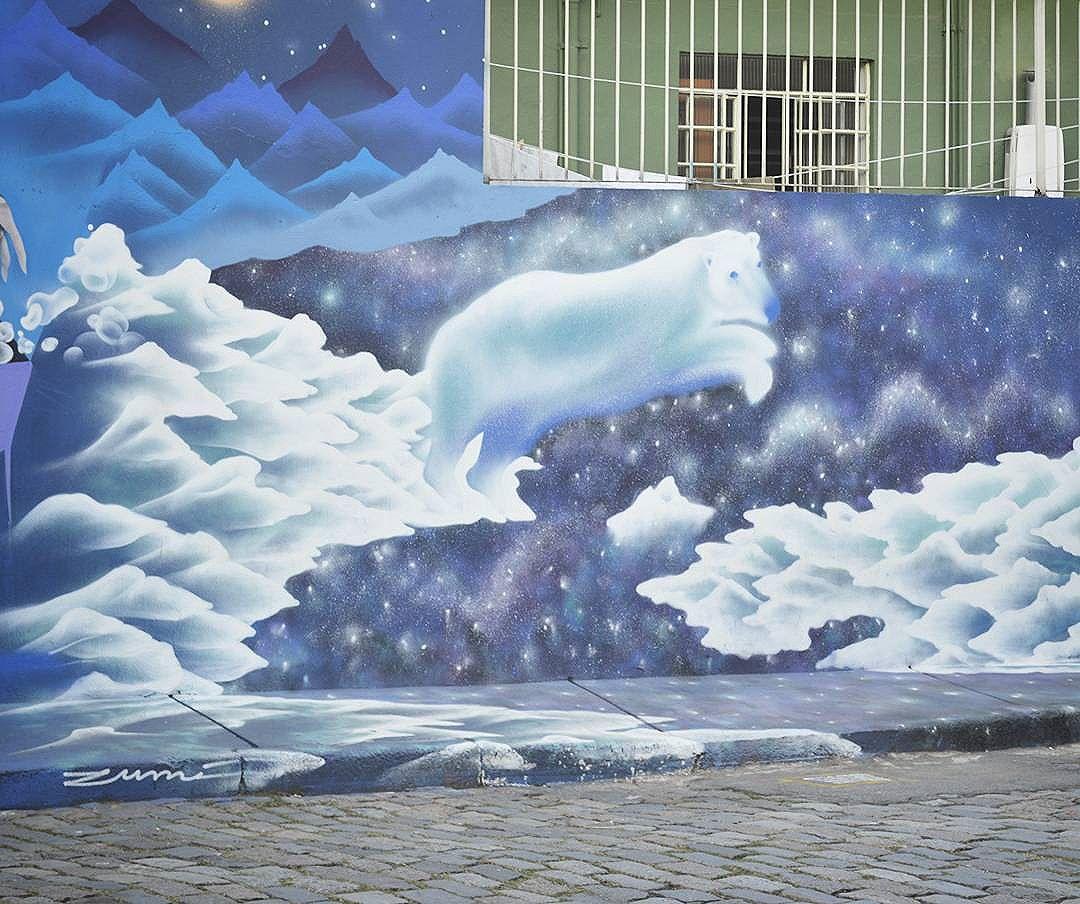 Obra da artista :@marinazumi - - Use a tag #cinzaxcores e compartilhe sua arte em nossa galeria . - - - #streetwalking #streetartsp #streephoto #graffiti #sp #streetart #urbanart #spray #spraypaint #graffitiart #graff #graffitiworld #artederua #art #paint #graffitilife #colors #blue #brz #Sousampa #spdagaroa #011 #graffitisp #desenho #urso #argentina #brazil #ruaasp #Turismodeart #colors
