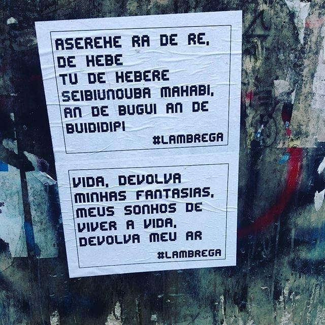 regram @lambrega Ragatanga + KLB, como não amar?  #streetartsp #011 #artederua #intervencaourbana #splovers #vozesdacidade #vozesdarua #lambelambe #lamblamb #olheosmuros #osmurosfalam #arteurbana #vinarua #acidadefala #poesiaderua #oqueasruasfalam #pelasruas #taescritoemsampa #urbanart #pelosmuros #txturbano #saopaulo #sp #brega  #ragatanga #rouge #klb