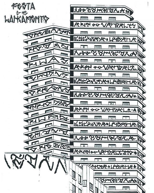 ️: @criptadjanivson  Desenho que ilustrou entrevista com o pixador Cripta Djan Ivson na Revista Vaidapé #6  #pixo #pixação #arte #streetart #streetartsp #cripta #drawing