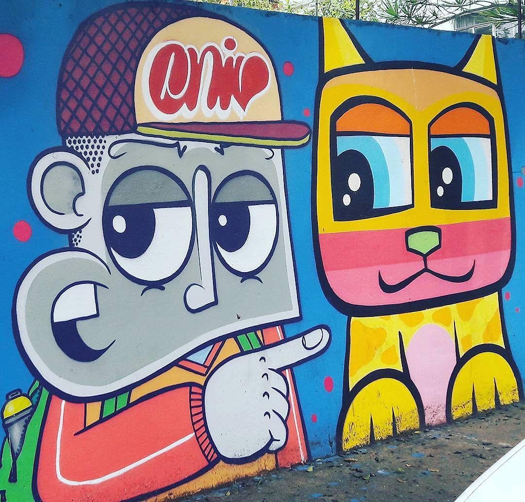 @chivitz + @minhau_sp #chivitz #minhau #fabricadegatos #znlovers #zn #jdsaopaulo #mirante #altodomirante #011 #sp #saopaulo #sampa #grafite #graffiti #arteparatodos #artedegraça #artederuasp #streetart #streetartsp #urbano #underground #galeriadearteurbana #galeriaaceuaberto