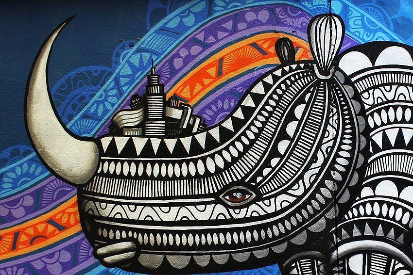 Detalhe do Rinoceronte no Túnel Noite Ilustrada/ São Paulo.  #cadumen #graffitinoiteilustrada #graffiti #rua #streetart #welovestreetart #noiteilustrada #streetarteverywhere #avenidarebouças #streetartsp #mural #spray #total_urbanart #spraypaint #sampa #artenarua #artederua #grafite #grafitesp #arteurbana #streetart_daily #brstreet #urbannation #wallart #rhino #streetartandgraffiti #brazilianart #rinoceronte #fromthestreets #streetartofficial