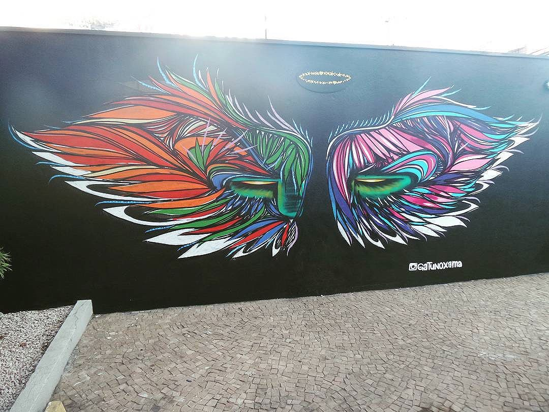 #gatunoxama #streetartsp #graffitisp #sampagraffiti #streetartist #streetstyle #streetphotography #streetphotographers #ofantasticomundodografite #urbanwalls #streetart #arteurbana #asas #angel #arteurbana #vilamadalena #sprayart #aerosolart #be_one_urbanart #graffiti_of_our_world
