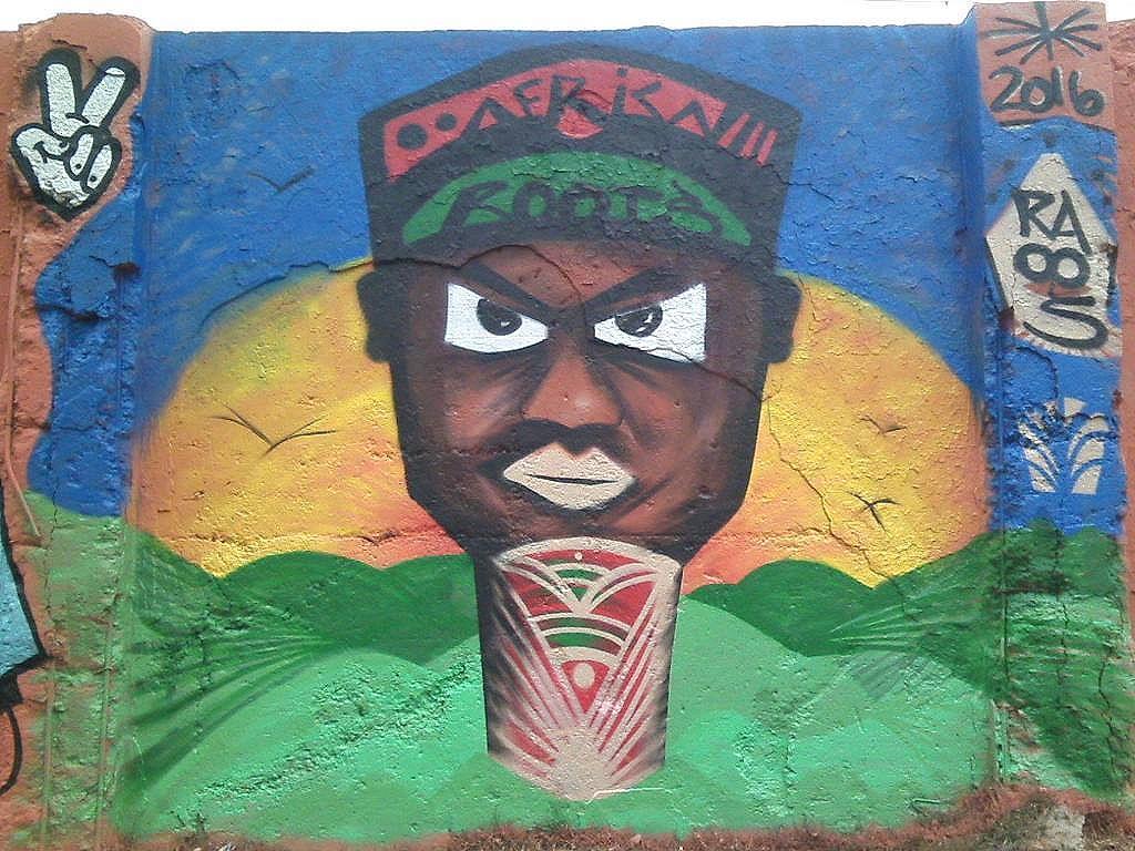 Minha participação no Graffiti contra o lixo, evento monstro no extremo da Z.leste de SP #graffiti #artederua #graffiticontraolixo #streetartsp #sampagraffiti #blackartist #urbanart #arteurbana #afrostyle #instagraff #blackskin #drawislife #drawing #coloringwalls #colors #spraypaint #sprayart #zleste #wallart #raoos