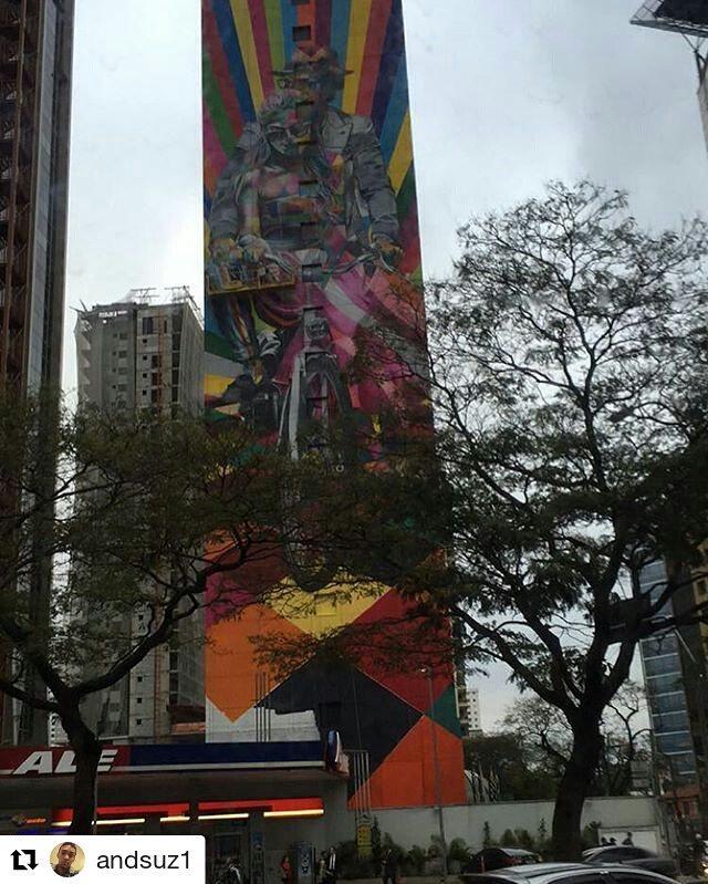 Minha São Paulo ️ Tem coisa nova do Kobra vindo aí. #dobusao do @andsuz1  #transporteviasp #saopaulo #saopaulocity #StreetArtSP