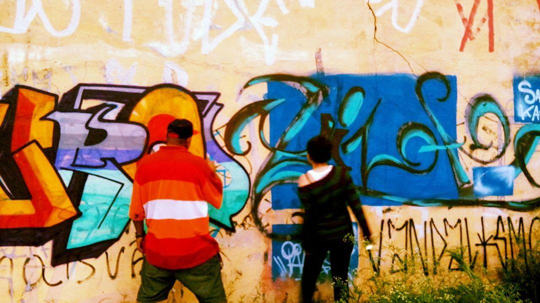 trampinho de hoje @edsonbizarro #graffiti #letter #colors #streetartsp #streetart #art #expression #expressionliberty #brothers #bizarro  #muralismo #cordodia