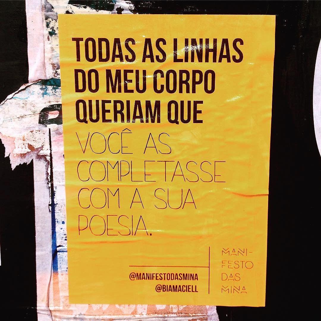 Agora eu me completei :) por @biamaciell  #lambe #lambelambe #streetartsp #streetart #instalove #instagood #intervenção #art #amor #arte #artederua #taescritoemsampa #olheosmuros #osmurosfalam #asruasfalam #oqueasruasfalam #vozesdarua #silenciodasruas #sp #sampa #sp4you #photo #poema #photograph #poesia