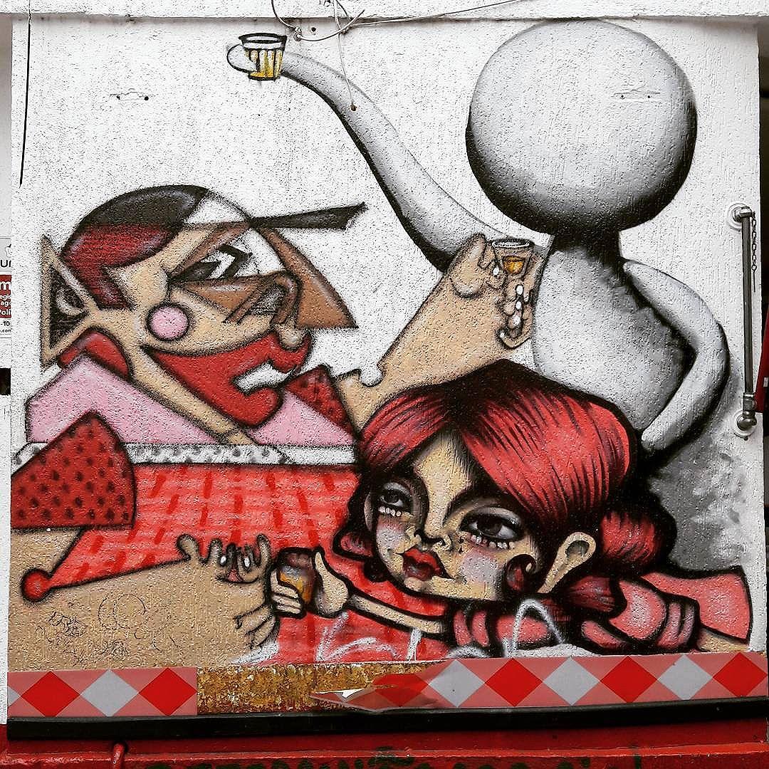 Collective wall art in downtown São Paulo  Artist: BIOFA (@fabiobiofa) + TIKKA (@tikkameszaros) + BIETO (@bieto) #biofa #tikka #bieto #sambadograffiti #sampagraffiti #graffiti #graffiti_clicks #grafite #graf #streetart #streetartsp #streetphoto #streetarteverywhere #streetartphotography #spray #spraypaint #urbanwall #urbanart #wallart #saopaulo #brasil #rsa_graffiti #braznu #sampa #tv_streetart #saopaulocity #tv_sa_simplicity_graff #streetartofficial #consolacao #be_one_urbanart