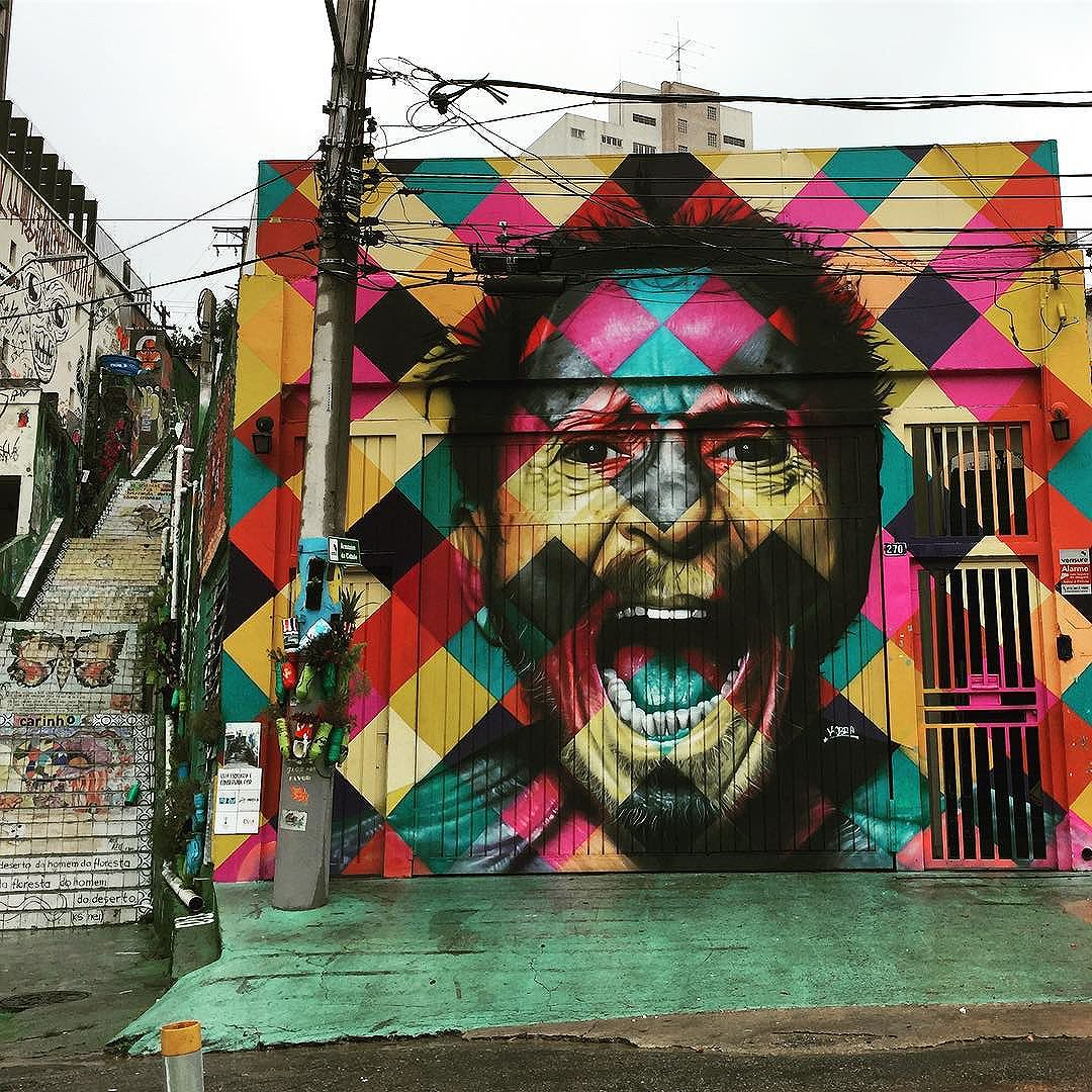 #currentmood @kobrastreetart mural of @tomzeoficial (listen Augusta Angelica Consolação and you will never be the same) #armazemdacidade #vilamadalena #streetartsp #graffiti