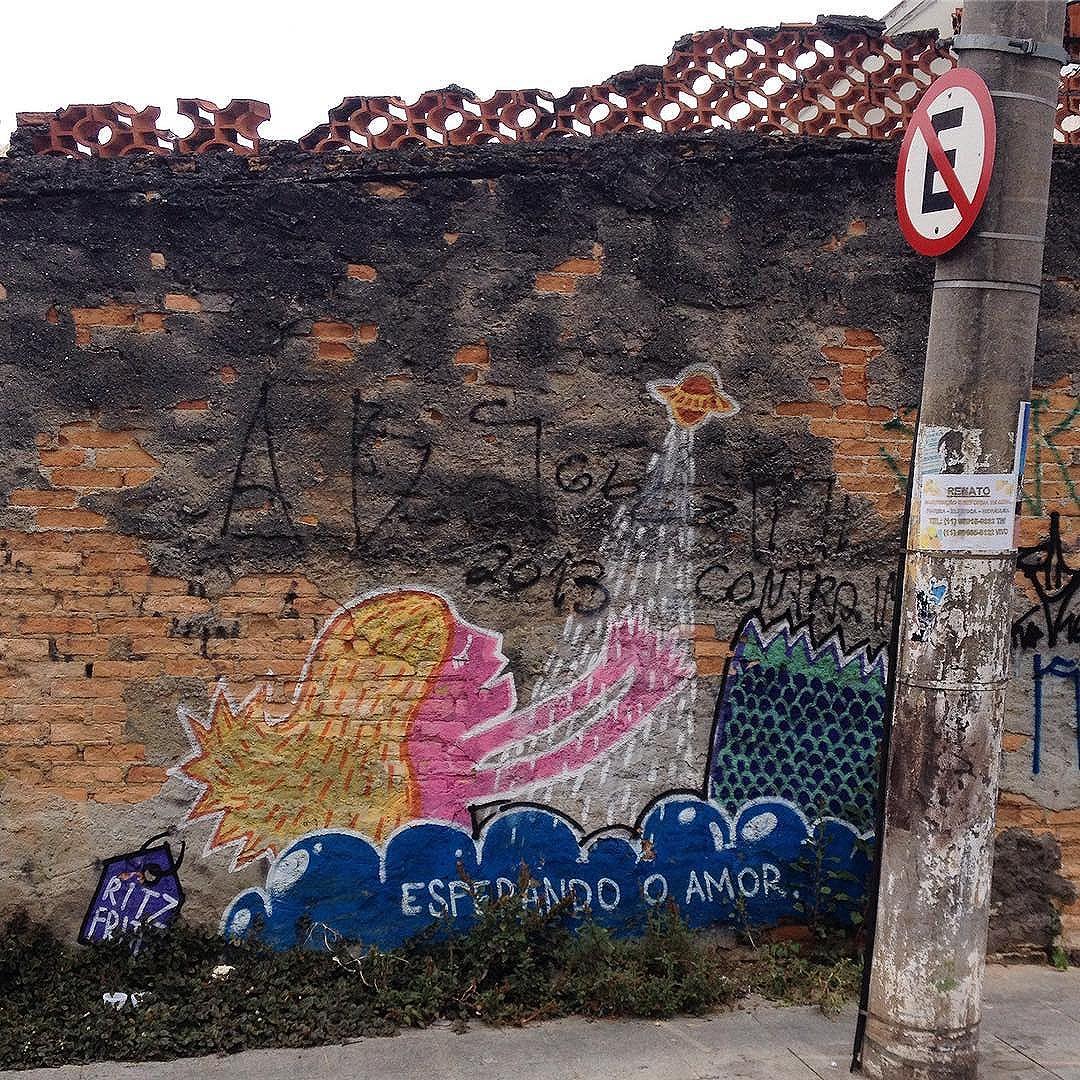 ESPERANDO O AMOR - @ritzfrittz  #dsb_graff #urbanphotography #pinheiros #graffiti #streetartsp #tv_streetart #arterua #wallart #streetarteverywhere #brickwork #sampa #saopaulo #streetart #sampagraffiti #jacktwo #