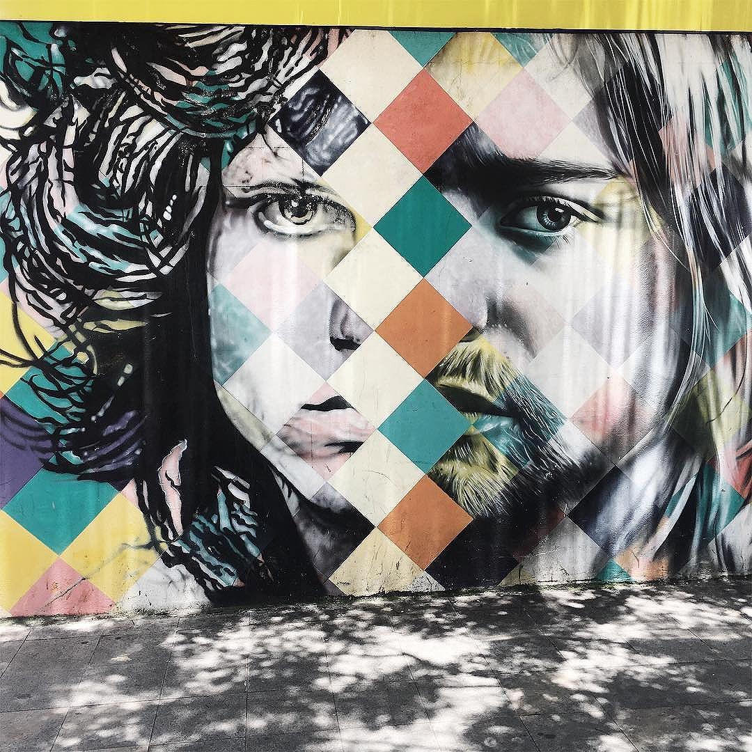 MURAL CLUB 27 part 1/3 Jim Morrison e Kurt Cobain #saopaulowalk #olharesdesampa #streetartsp #vscocam #vsco