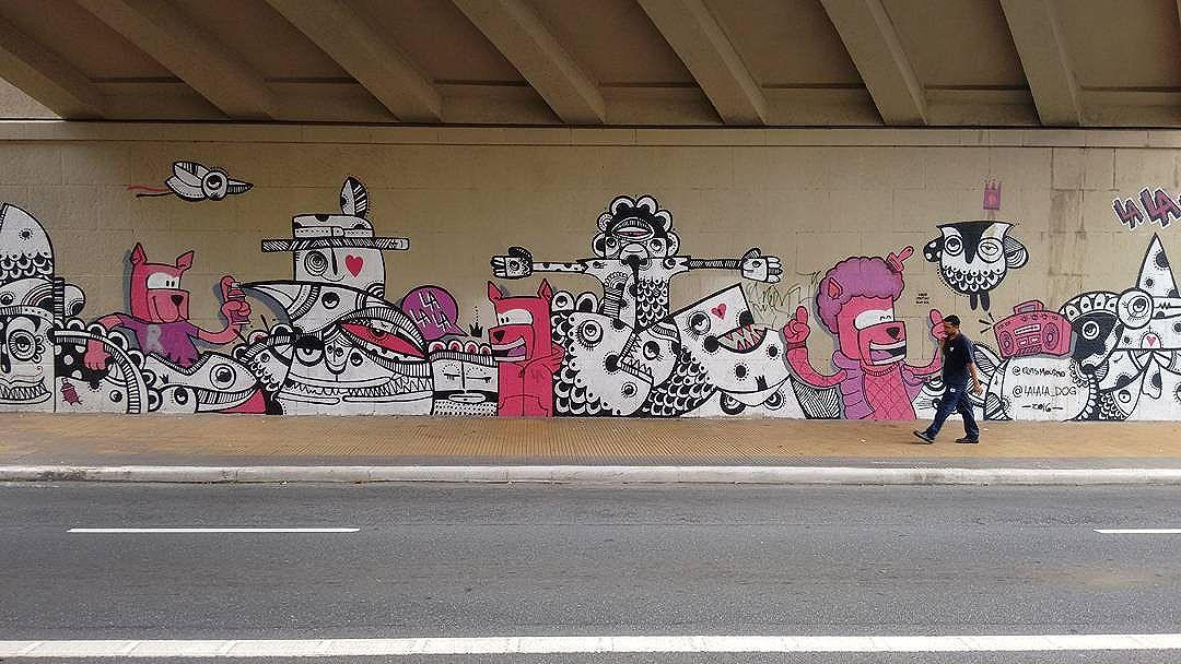 #urbanartist @lalaladog.oficial e @elvismourao #urbanart #urbanartsp #urban_graffiti #urbanexploration #grafite #graffiti #graffitiigers #graffiti_clicks #streetart #streetartsp #streetartsaopaolo #streetartbrazil #brazilianart #streetartuncovered #streetarteverywhere #streetartshots #streetphoto #sampagrafite #instagrafite #dsb_graff #muraldaily #coolsampa #phonephotography #sp011 #sp #brazil