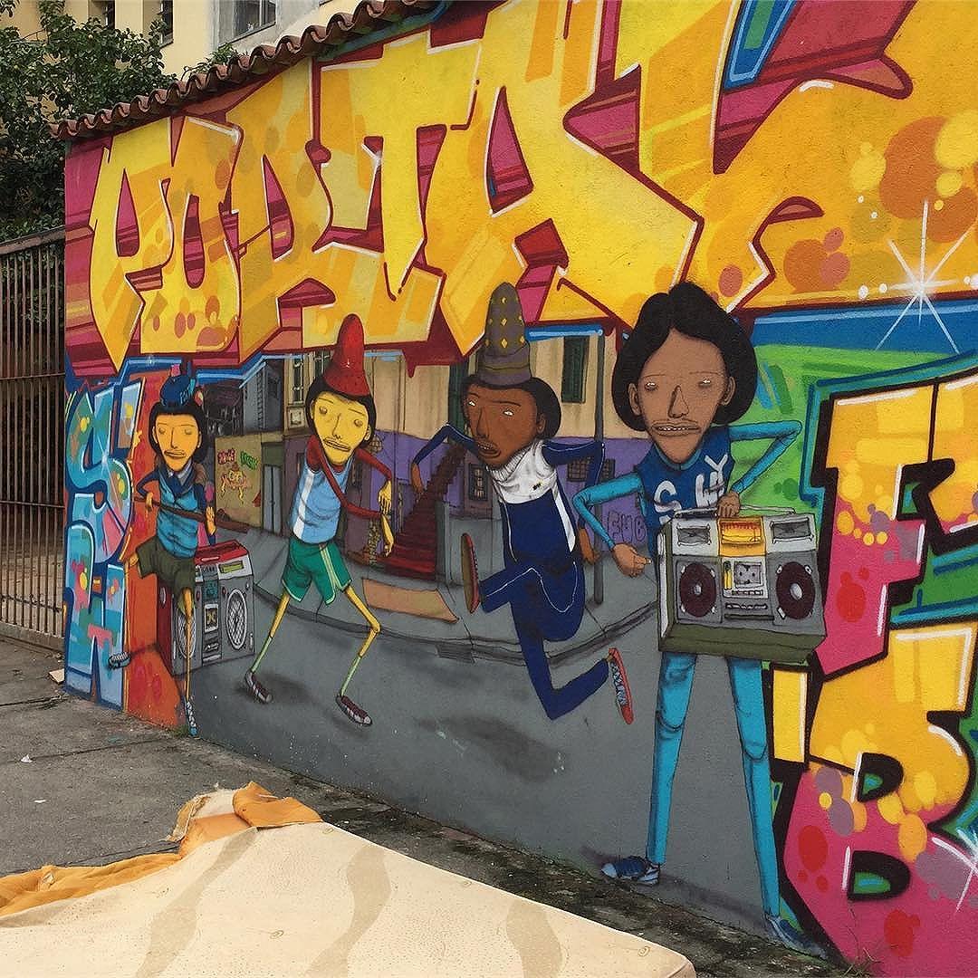 #osgemeos #vlok #graffitisp #graffiti #streetart #streetartsp #artederua #saopaulo