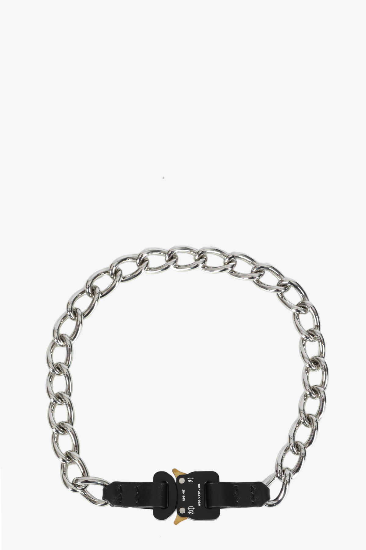 CHAIN NECKLACE W LEATHER DETAILS 1017 ALYX 9SM | 35 | AAUJW0003OT01 CHAIN NECKLACE W LEATHER DBLACK