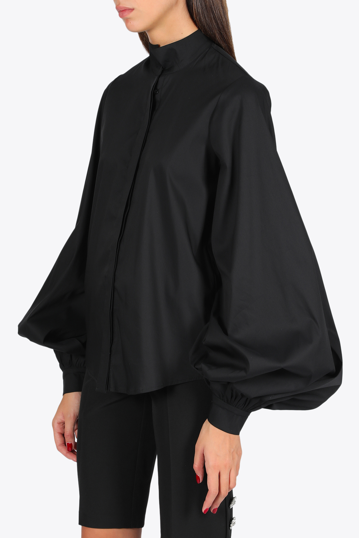 Puff sleeves shirt ACTUALEE | 6 | 5160 CA489BLACK