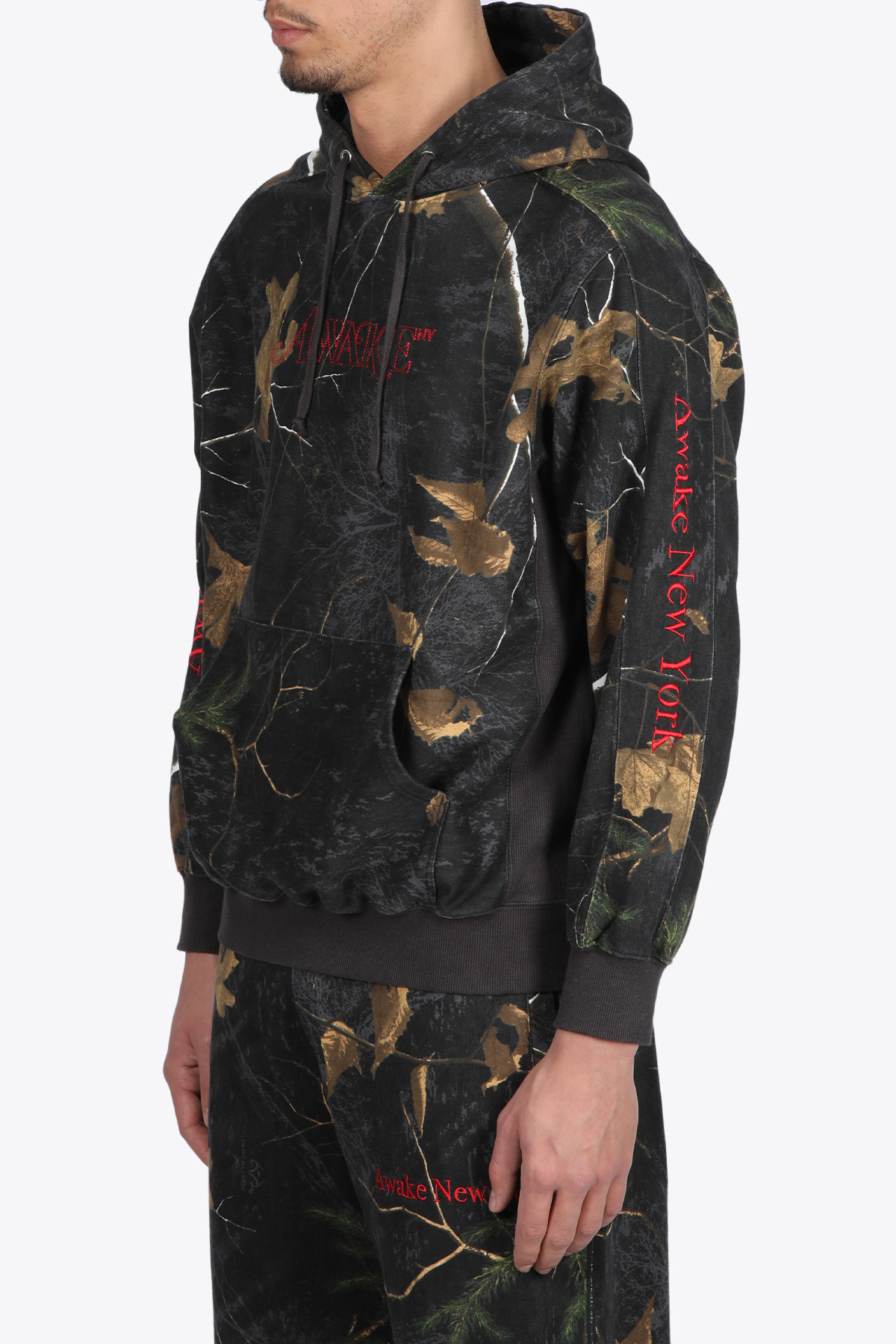 CLASSIC OUTLINE LOGO PANELED EMBROIDERED HOODIE AWAKE NY   -108764232   HD001 CLASSIC OUTLINE LOGO PANELED EMBROREAL THREE