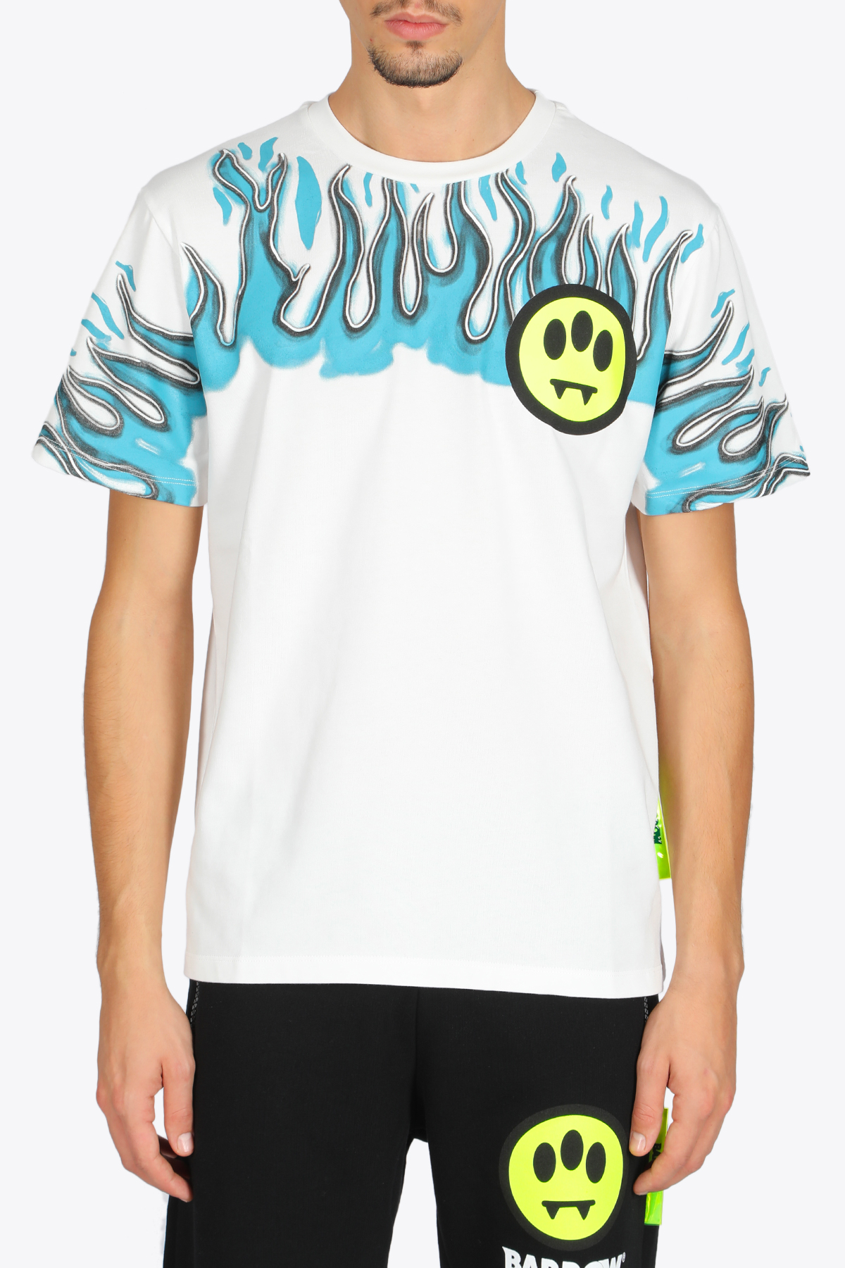 Flames and smile t-shirt BARROW | 8 | 027998 JERSEY T-SHIRT002