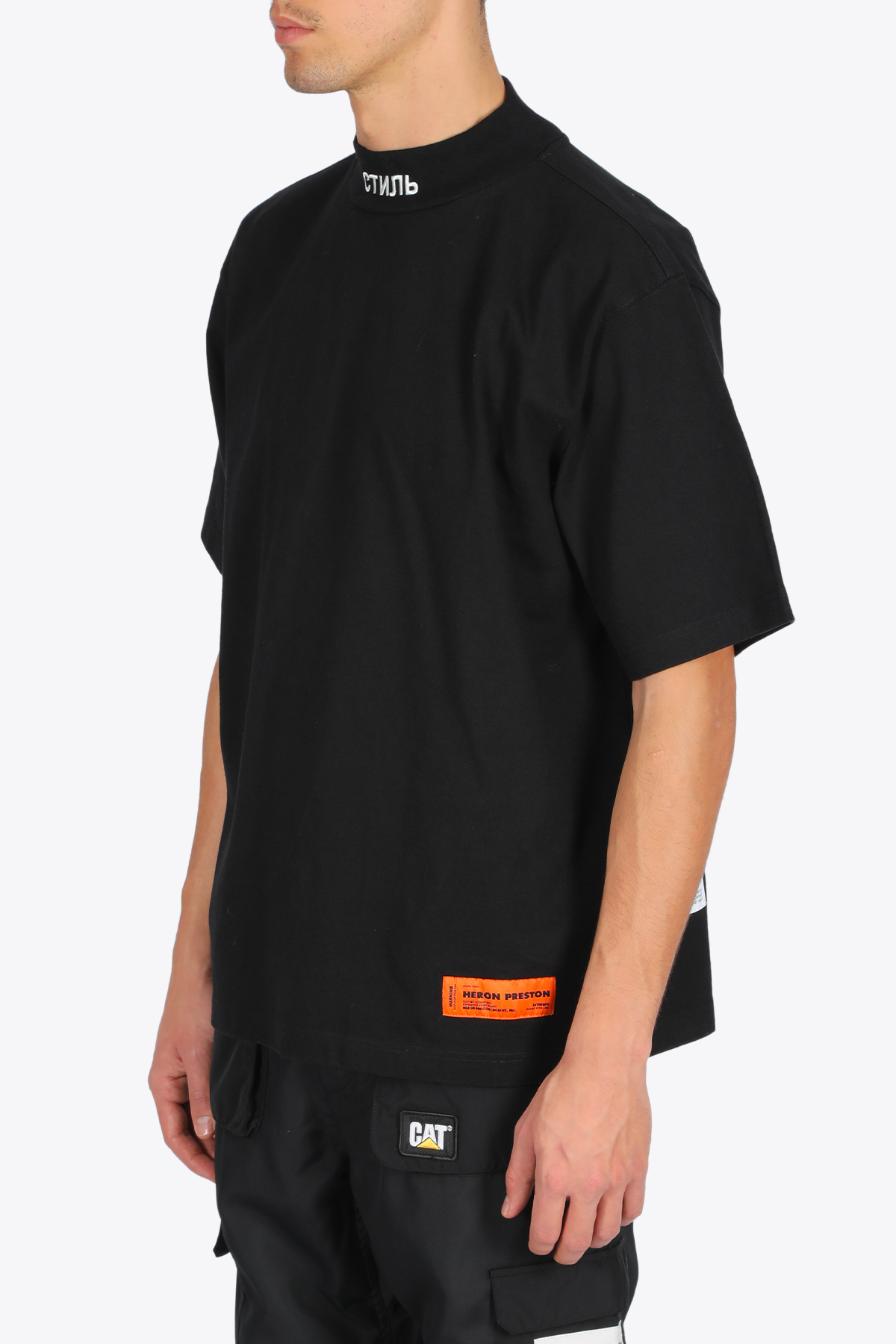ss turtleneck HERON PRESTON | 8 | HMAA021F20JER0011001 SS TURTLENECKBLACK/WHITE