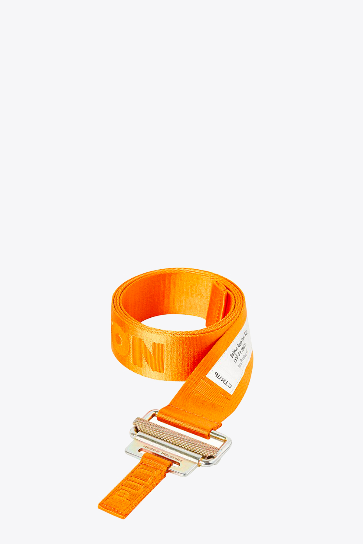 classic buckle tape belt HERON PRESTON | 22 | HMRB005F20MAT0012276 CLASSIC BUCKLEORANGE/GOLD