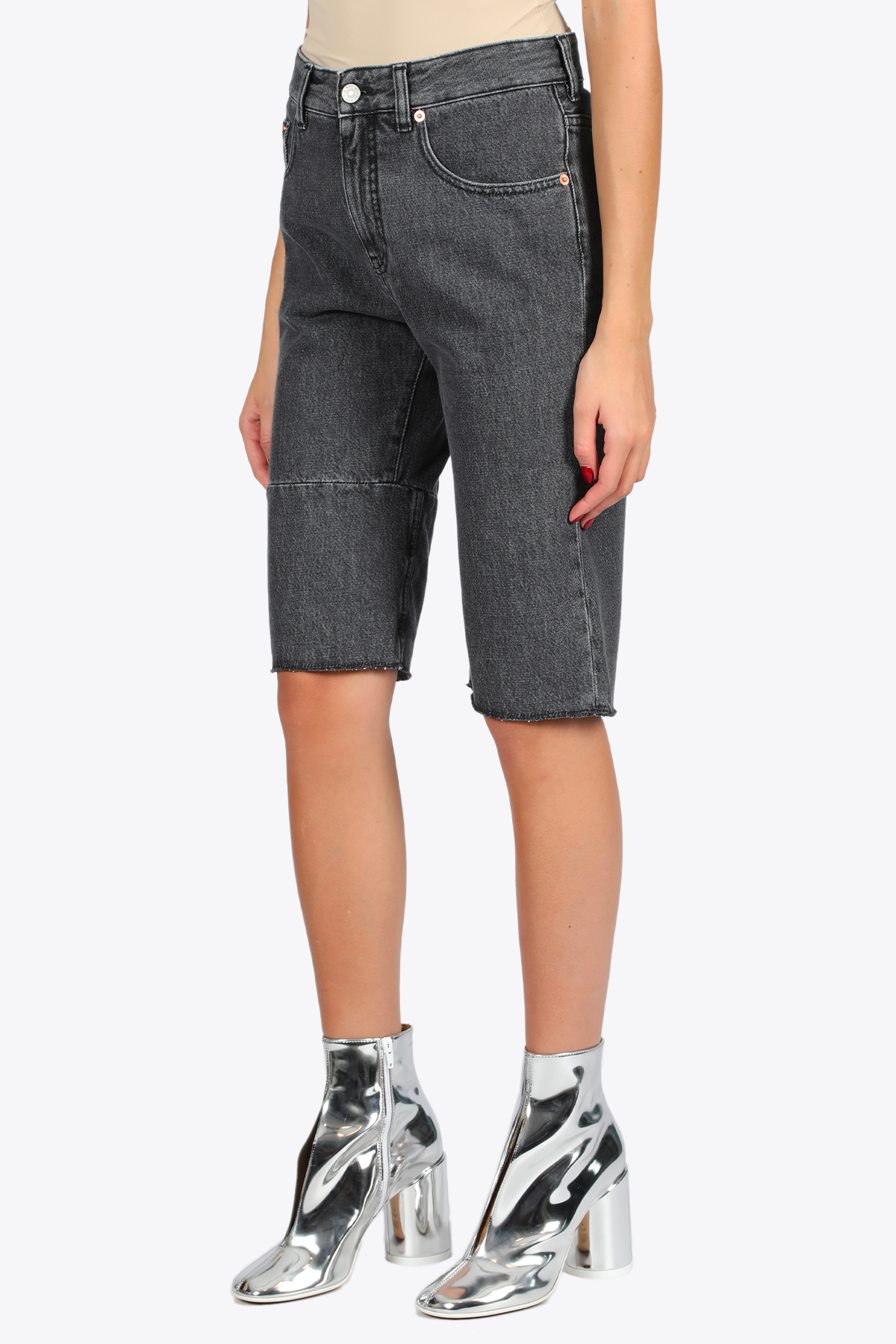 DENIM BERMUDA SHORTS MM6 MAISON MARGIELA | 30 | S32MU0158 S30652855