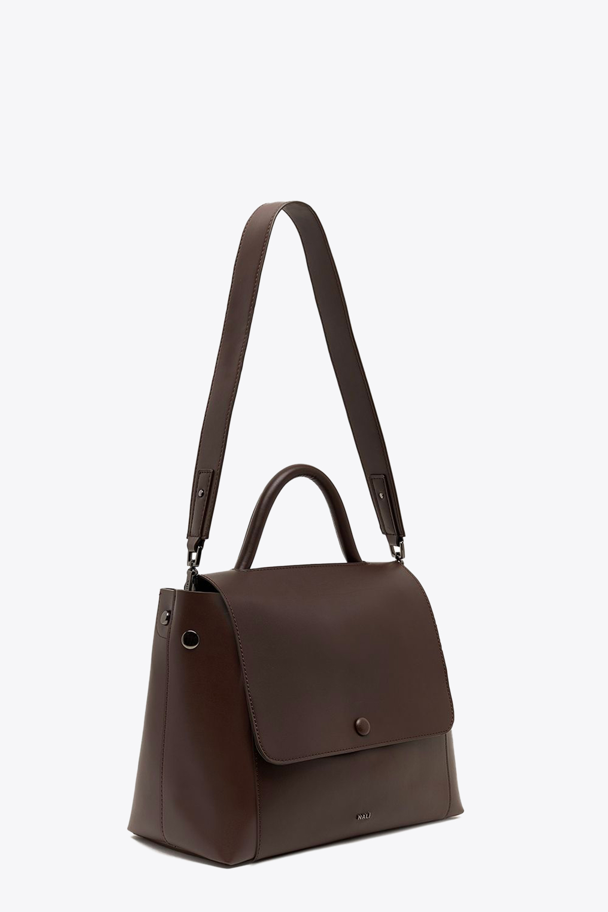 HANDBAG WITH FLAP NALI | 31 | CFBS0025BROWN