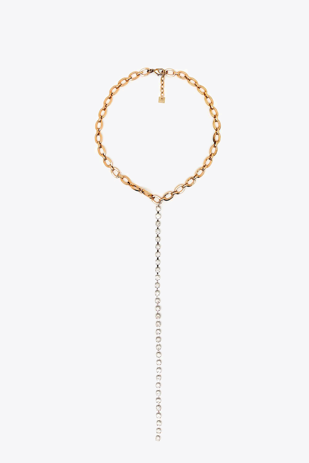 CHAIN NECKLACE WITH STRASS PENDANT NALI   35   EMCL0347SILVER