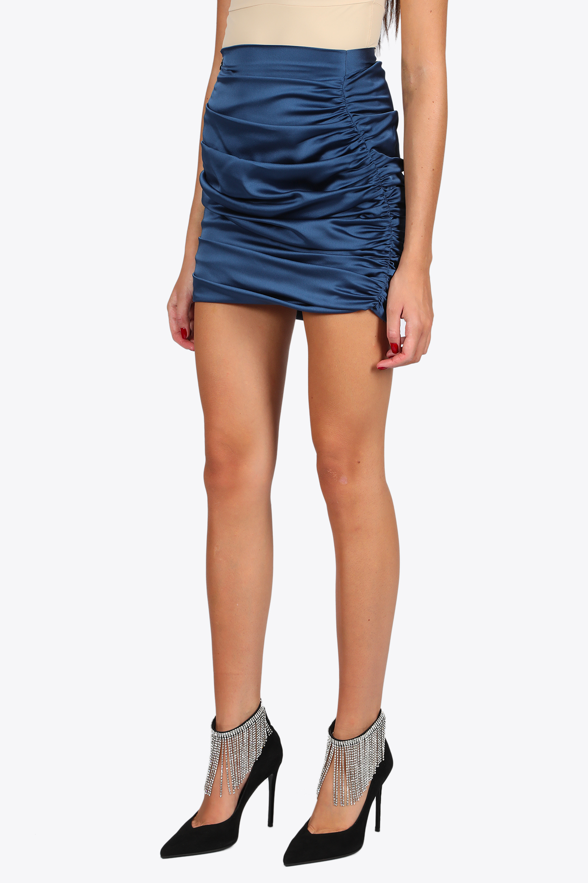 CURLING SATIN SKIRT NINEMINUTES | 15 | THE CURLING SKIRTBLUE