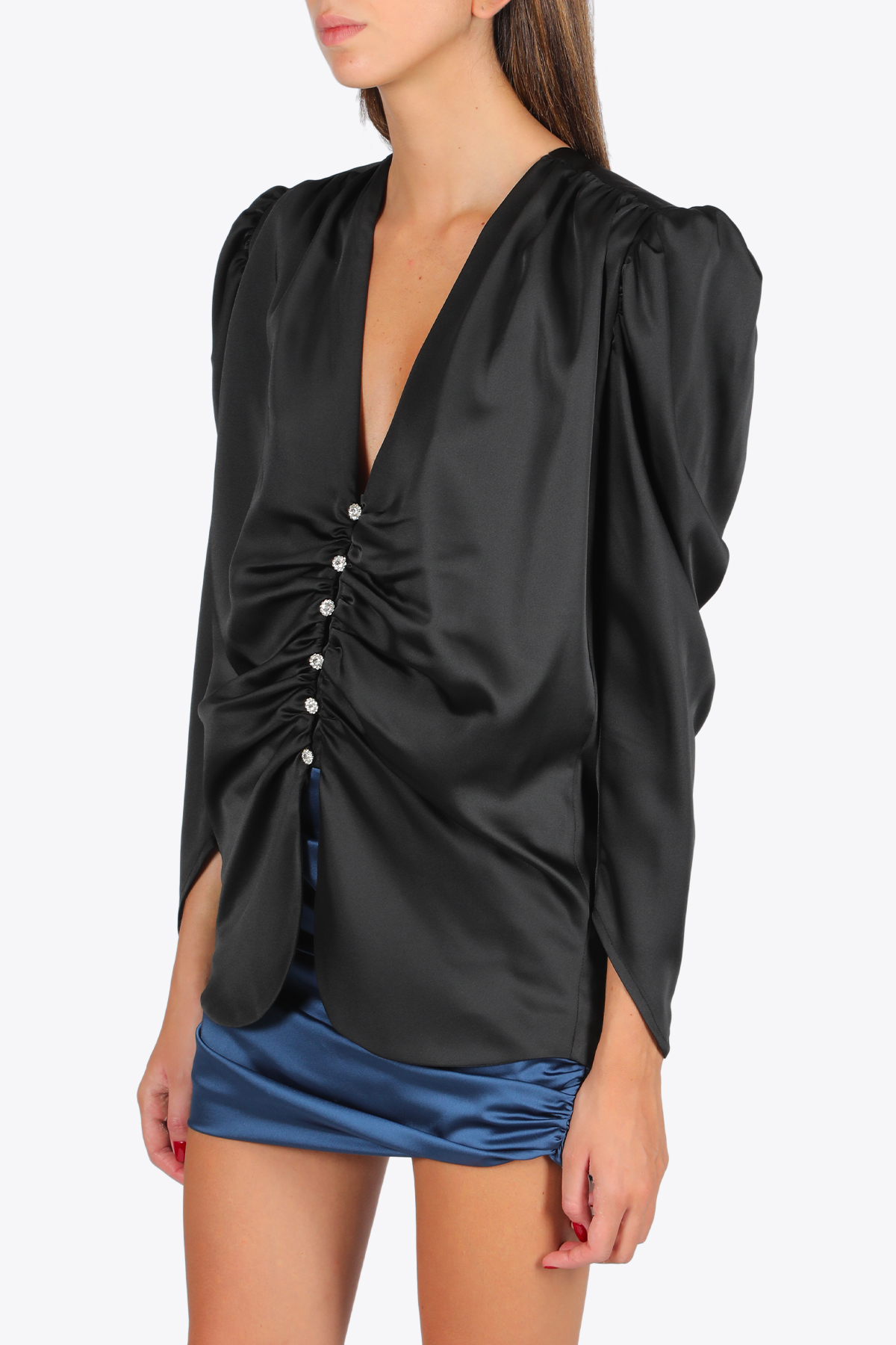 Satin blouse  NINEMINUTES | 6 | THE FEMME SHIRTBLACK