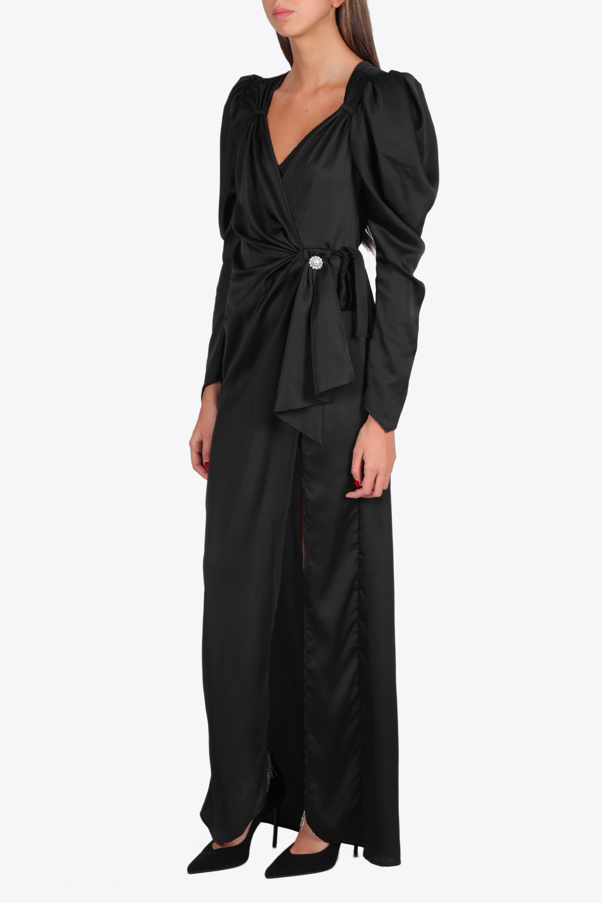 PUFF SLEEVES LONG DRESS NINEMINUTES | 11 | THE NUITBLACK