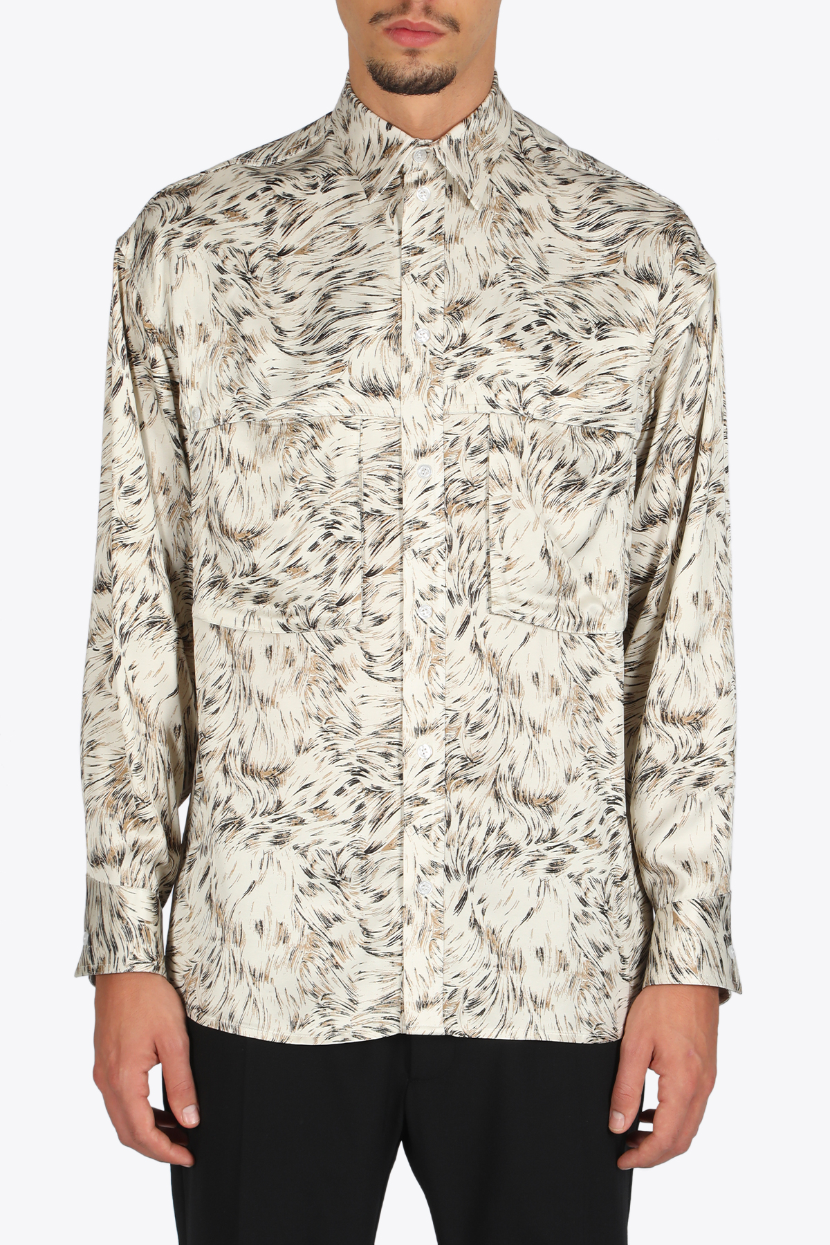 FURPRINT POCKET DETAILED SHIRT OPENING CEREMONY | 6 | YMGA003F20FAB002 FURPRINT POCKETDETAILED6160