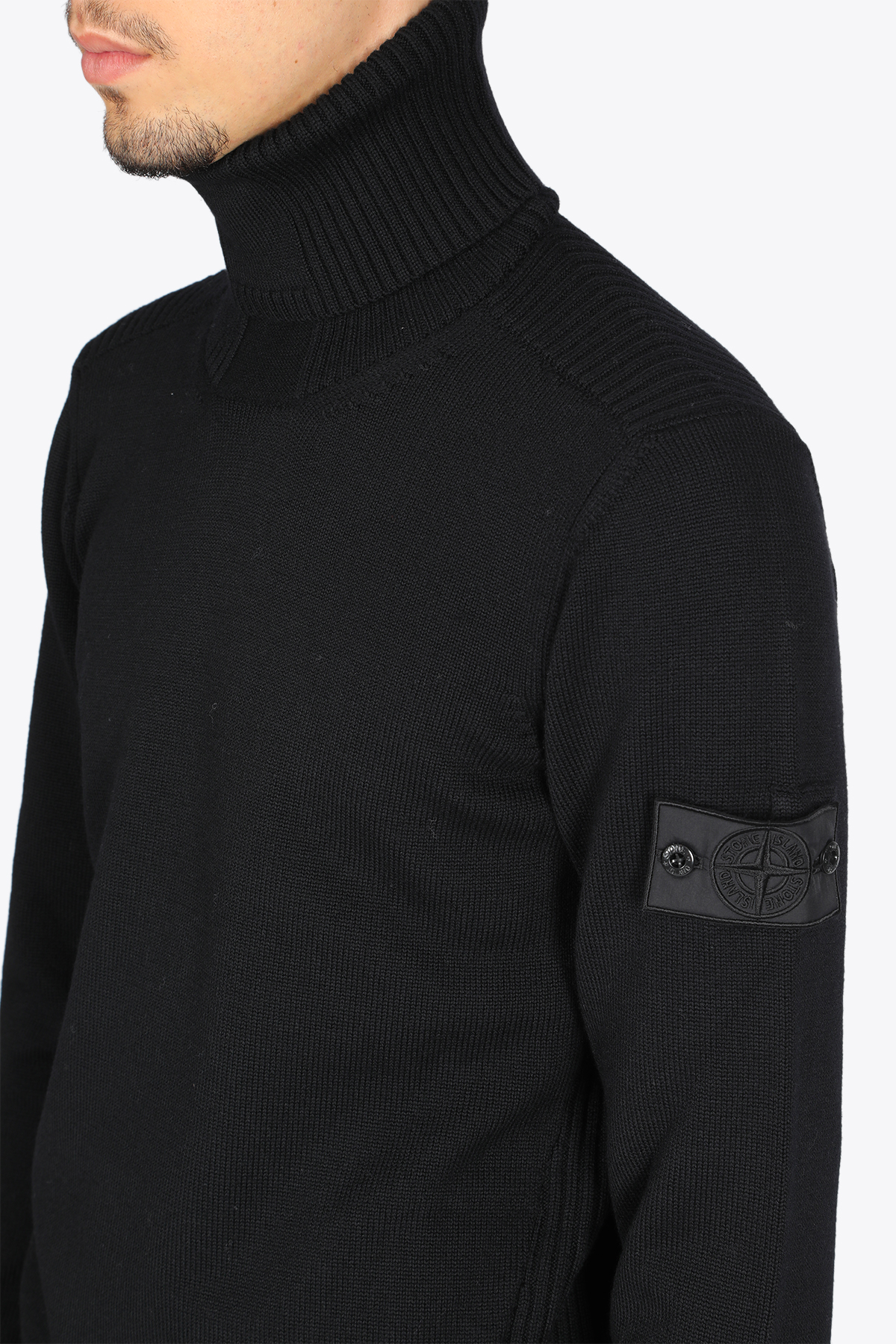 RIBBED TURTLE NECK STONE ISLAND SHADOW PROJECT   -1384759495   7319510A5 V0029BLACK
